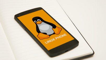 linux phone mockup