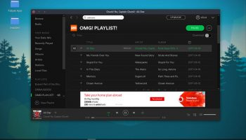 the spotify linux app flatpak running on ubuntu