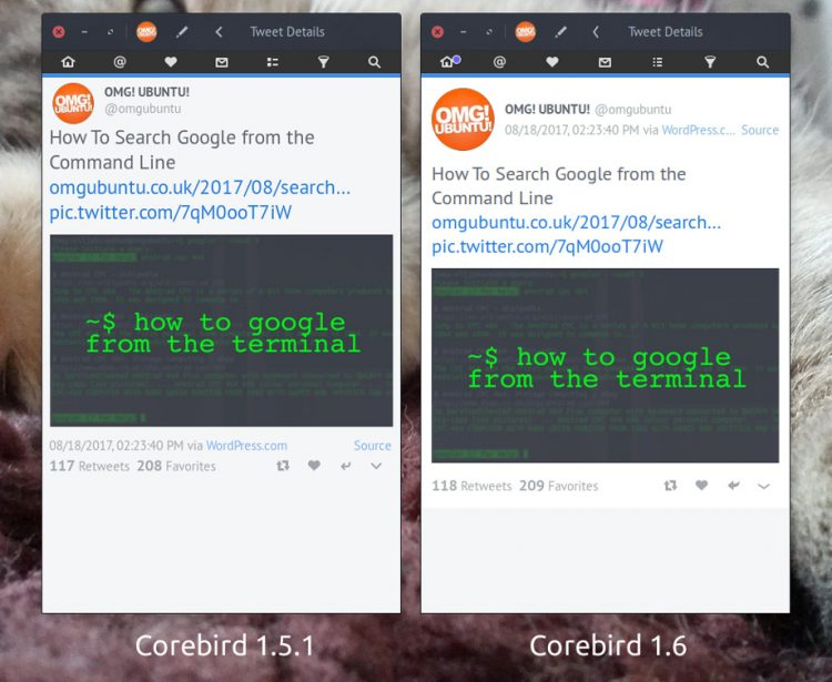 corebird 1.6: tweet detail