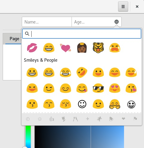 gnome emoji chooser