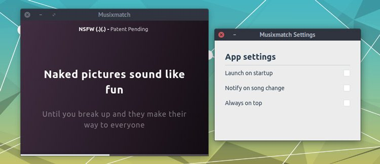 musixmatch lyrics settings