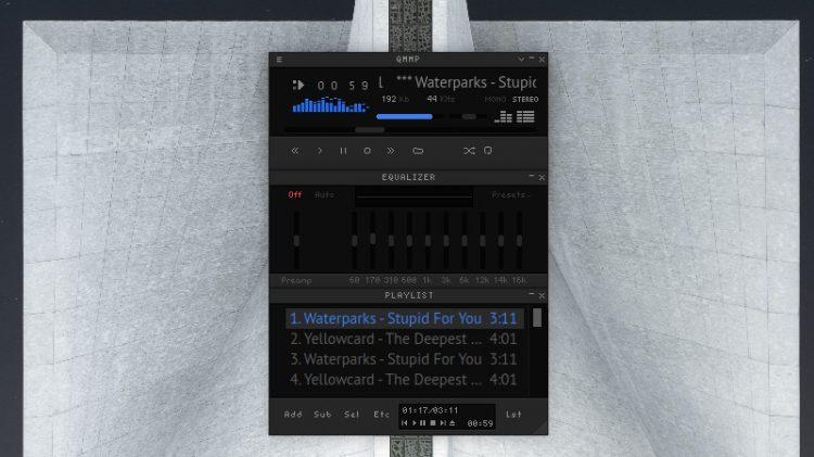qmmp audio player screenshot