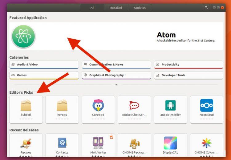 ubuntu software snap promotion