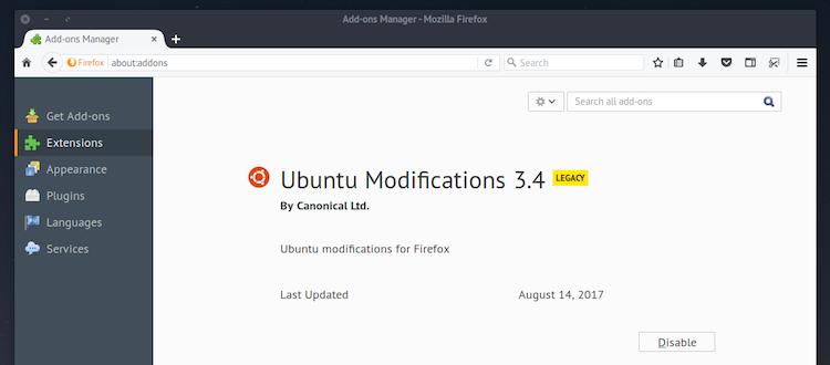ubuntu ubufox add-on for Firefox