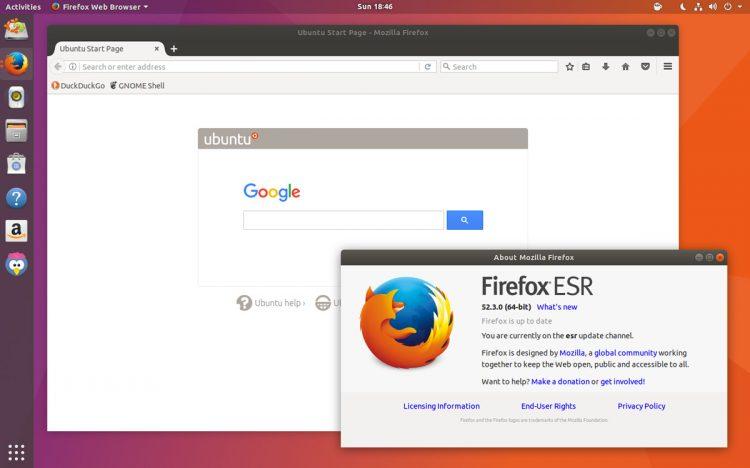 firefox esr on ubuntu