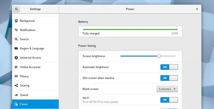 GNOME 3.26 settings