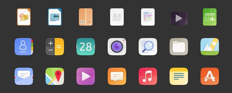 suru-icon-theme header