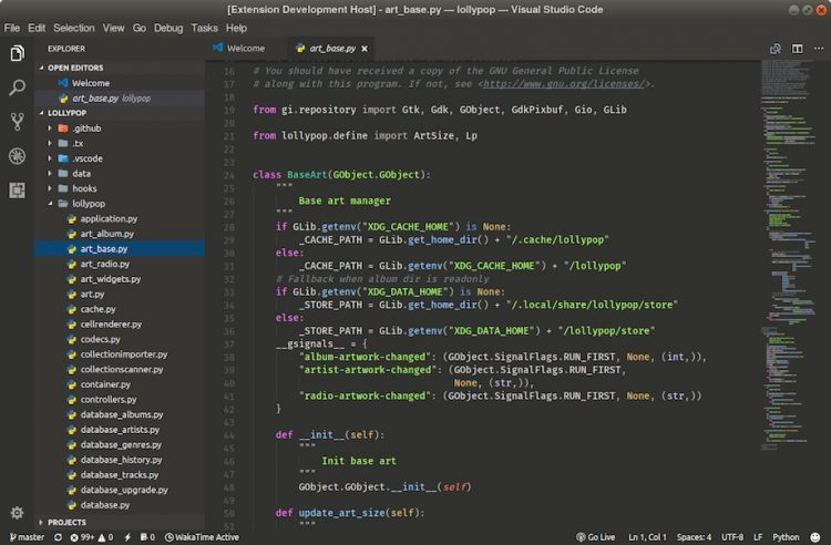Visual Studio Code electron app