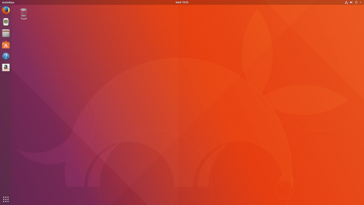 ubuntu 17.10 beta 2 desktop screenshot
