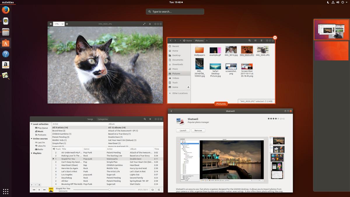 Ubuntu 17.10 Review: Activities