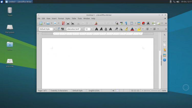 Xubuntu 17.10 desktop screenshot
