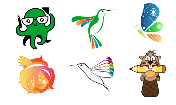 selection of libreoffice mascot submissions