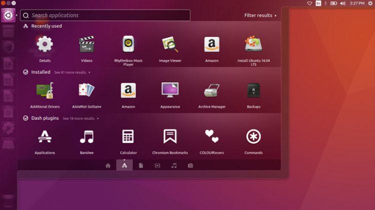Ubuntu Unity desktop