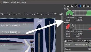 GIMP 2.10 dashboard feature