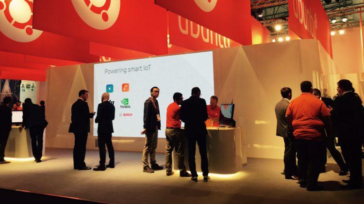 Ubuntu's booth at MWC 2017