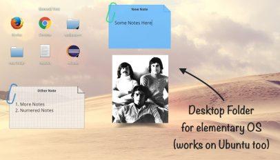 elementary desktop folder app with text
