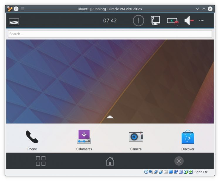 plasma mobile download running in virtualbox