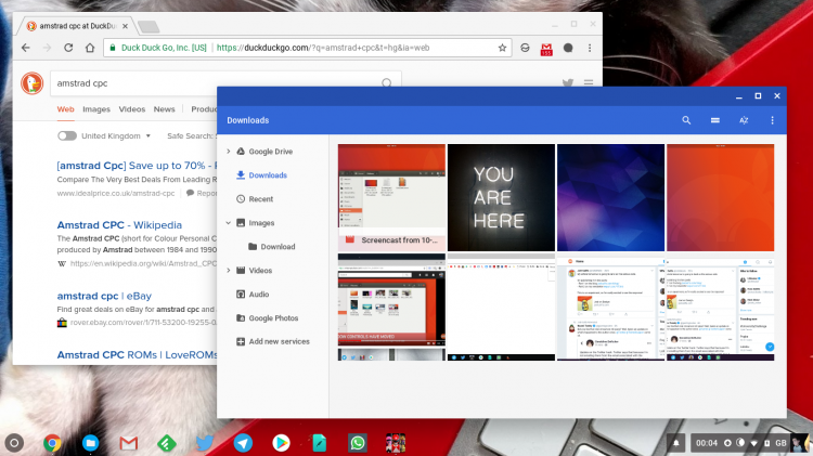 chrome os desktop screenshot