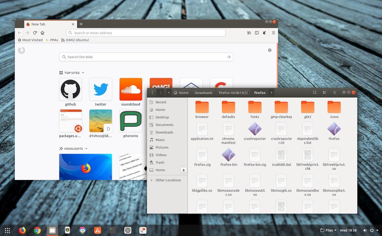 Firefox builds on Ubuntu
