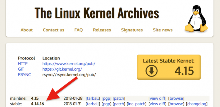 latest linux kernel versions