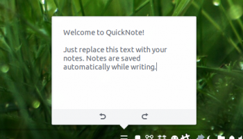 Quicknote budgie applet