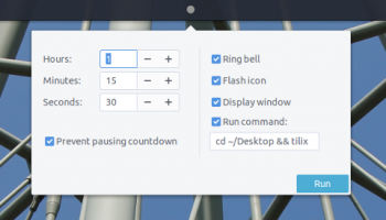 countdown timer budgie applet