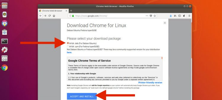 how to download google chrome for linux in ubuntu