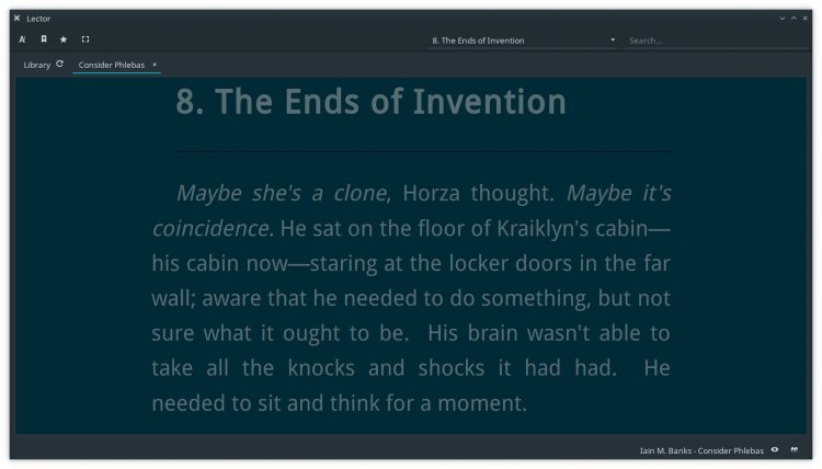 lector ebook app supports custom font size