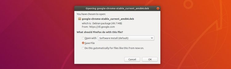 Save google chrome download dialog
