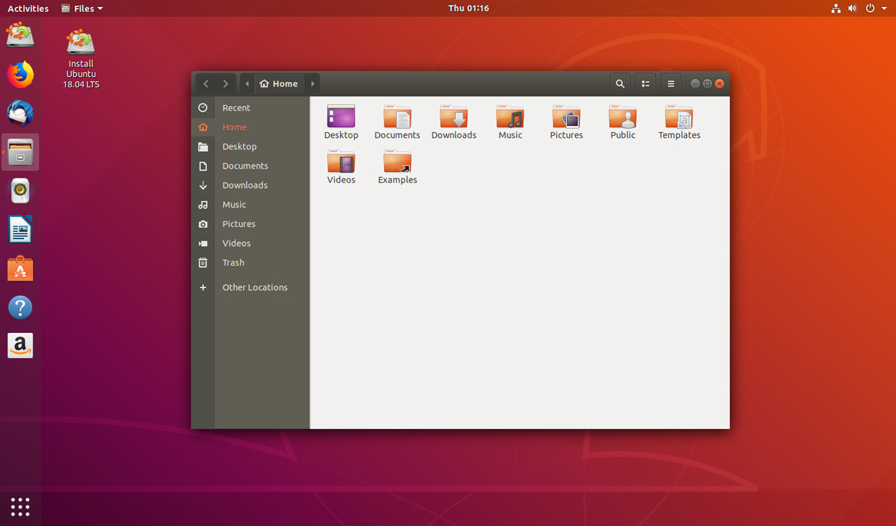 ubuntu 18.04 desktop screenshot showing the nautilus file manager