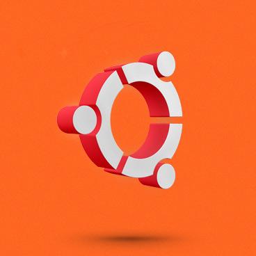 ubuntu logo floating