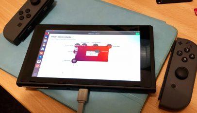 Ubuntu 18.04 running on a Nintendo Switch