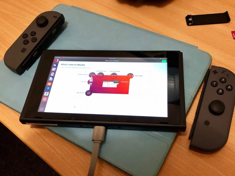Ubuntu 18.04 running on a Nintendo Switch