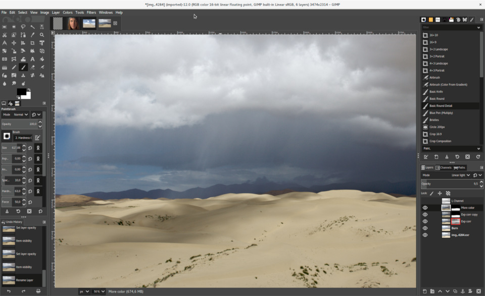 GIMP 2.10 screenshot