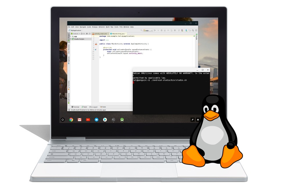 Chromebooks can run Linux apps now