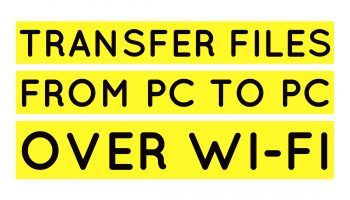 transfer files from pc to pc over wifi