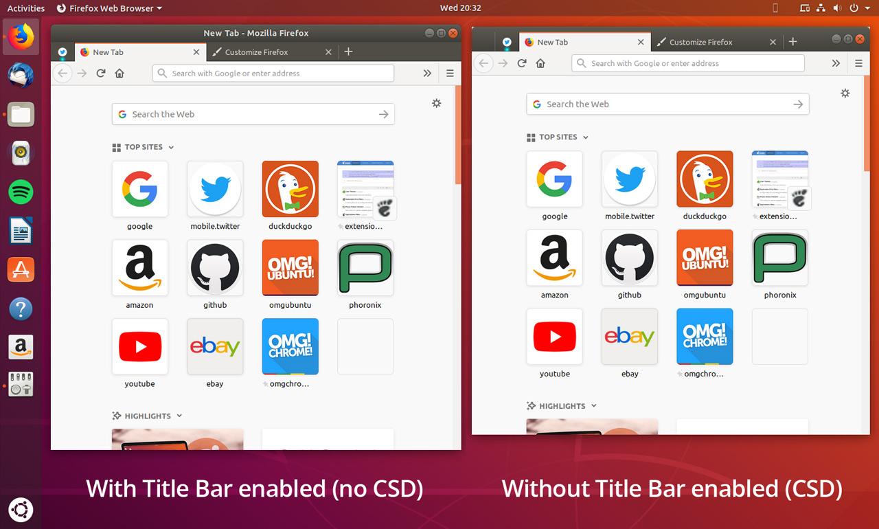 Firefox CSD comparison