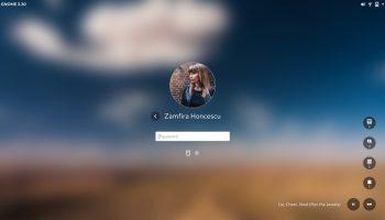 unlock screen GNOME Shell 3.30
