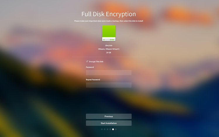 deepin 15.8 disk encryption
