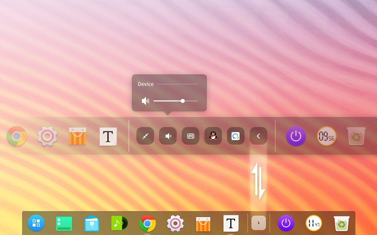 deepin 15.8 features a new dock tray