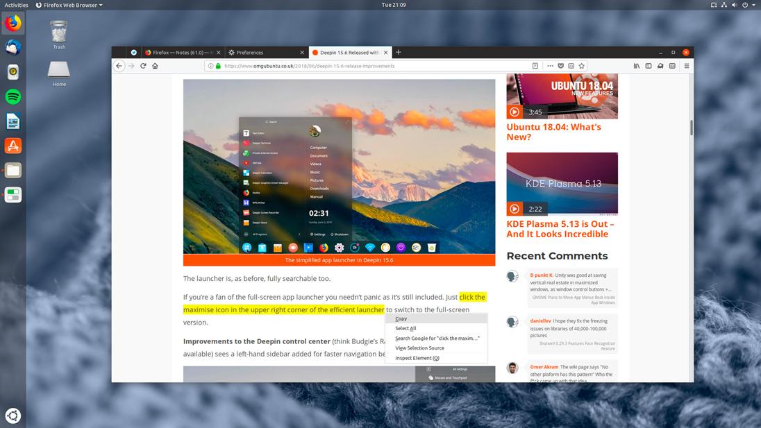 Firefox Linux CSD screenshot