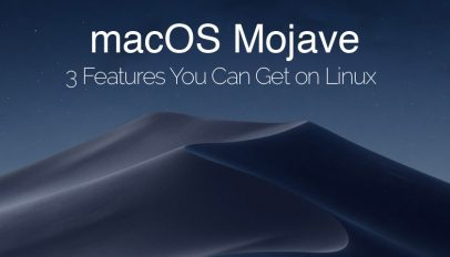 macos mojave linux features