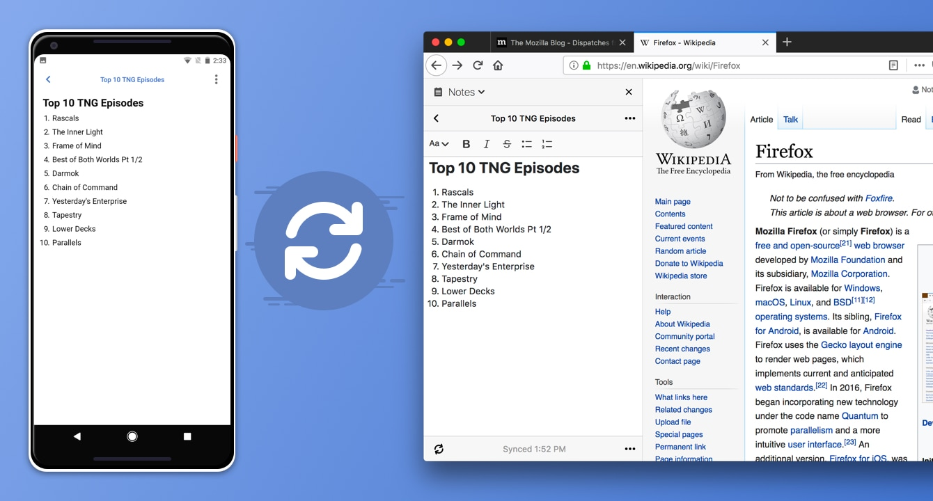 notes by firefox works on android and desktop