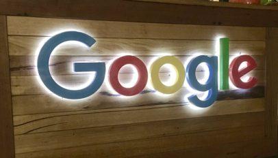 Google Sign illuminated