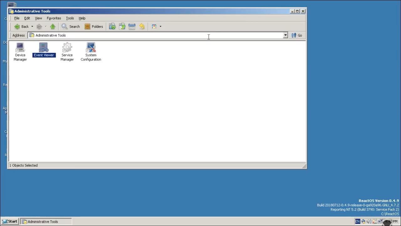 reactos 0.4.9 screenshot