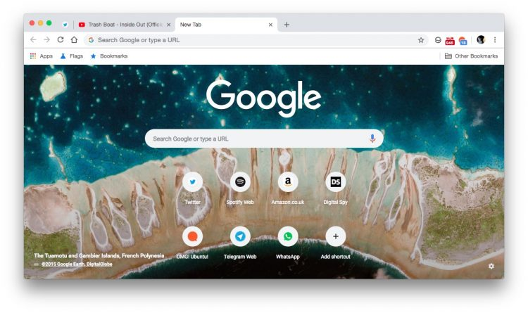 chrome's new new tab page