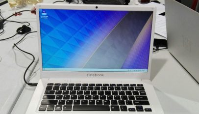 pinebook arm laptop running kde plasma neon