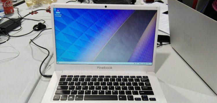 pinebook arm laptop running kde plasma neon