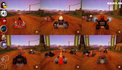 split screen multiplayer in super tux kart