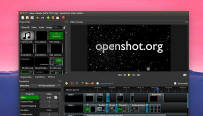 openshot video editor for linux screenshot